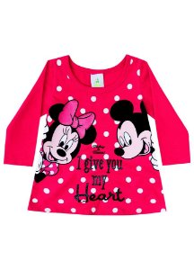 Blusa Minnie e Mickey - Disney Baby - Vermelha - Brandili
