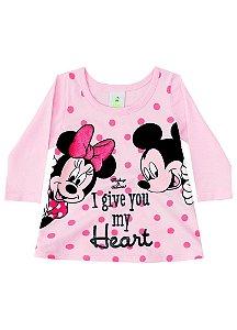 Blusa da Minnie e Mickey - Disney Baby - Rosa Claro