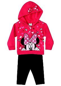 Conjunto de Blusa de Moletom e Legging da Minnie - Vermelho