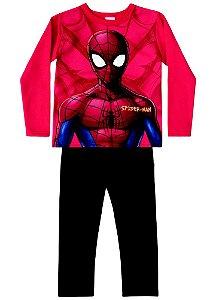 Conjunto de Blusa e Calça Moletom - Homem Aranha - Vermelho e Preto - Brandili