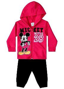 Conjunto de Jaqueta e Calça de Moletom do Mickey - Vermelho e Preto - Brandili