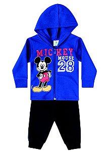 Conjunto de Jaqueta e Calça de Moletom do Mickey - Azul