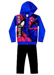 Conjunto de Jaqueta e Calça de Moletom - Azul - Homem Aranha