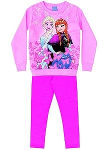 Conjunto de Blusa de Moleton e Legging - Disney Frozen - Rosa Claro