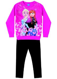 Conjunto de Blusa de Moleton e Legging - Disney Frozen - Pink