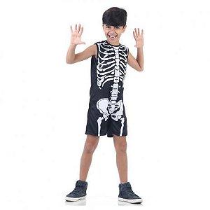 Fantasia de Esqueleto - Pop - Preto e Branco - Sula