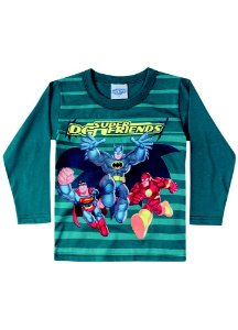 Camiseta Super Friends - Verde Petróleo - Brilha no Escuro