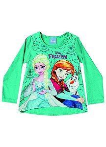 Blusa Elsa e Anna - Disney Frozen - Verde