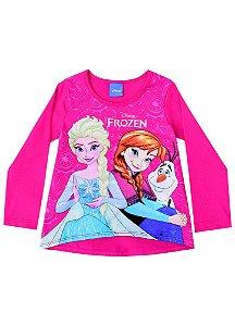 Blusa Elsa e Anna - Disney Frozen - Cereja