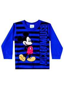Camiseta Baby do Mickey - Azul Royal