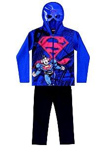 Conjunto de Jaqueta e Calça de Moletom - Superman - Azul e Preto - Brandili