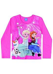 Blusa da Elsa e Anna - Disney Frozen - Rosa