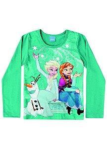 Blusa da Elsa e Anna - Disney Frozen - Verde