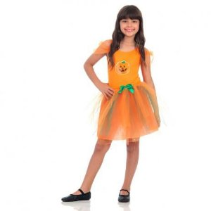 Fantasia Infantil de Bruxa Abóbora de Halloween - Laranja - Sula