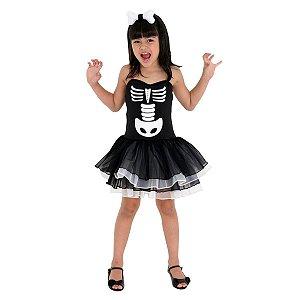 Fantasia da Bruxa Esqueleto - Preta - Sula - Halloween