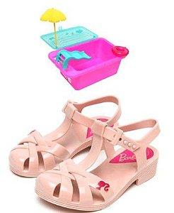 Sandália Barbie - Festa na Piscina - Rosa Claro com Brinde