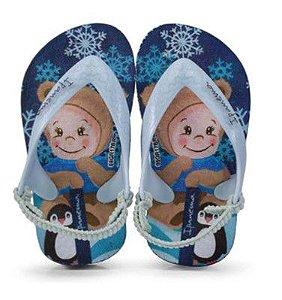 Chinelo Ipanema com Tira Azul - Snow Baby