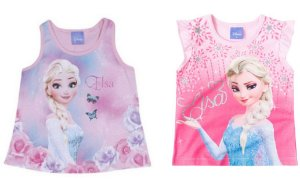 Combo Blusas Frozen - Disney - Duas Blusas por 44,90 - Rosa e Lilás - Brandili
