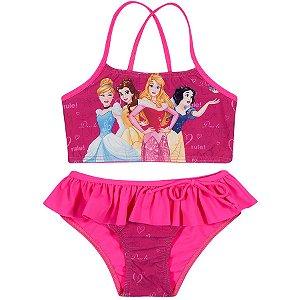 Biquini das Princesas da Disney - Top com Calcinha - Pink