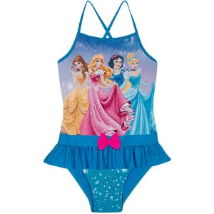 Maiô das Princesas da Disney  - Azul Turquesa