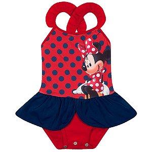 Maiô da Minnie - Disney  - Vermelho - Tiptop