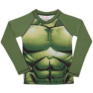 Camiseta Proteção UV 50 FPS - Hulk - Avengers - Verde - Tiptop