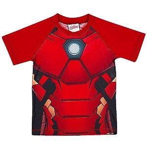 Camiseta Homem de Ferro Proteção UV 50 FPS  - Manga Curta - Tiptop