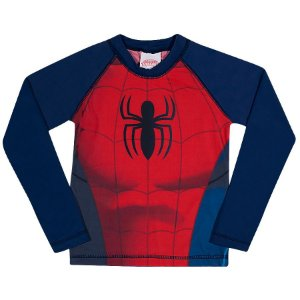 Camiseta Proteção UV 50 FPS  - Homem Aranha