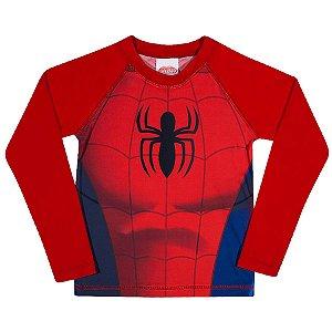 Camiseta Homem Aranha Proteção UV 50 FPS Vermelha - Tiptop