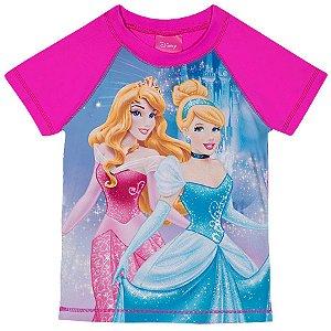 Camiseta Proteção UV 50 FPS  - Princesas - Disney - Rosa