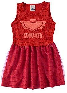 Vestido Corujita - PJ Masks - Vermelho