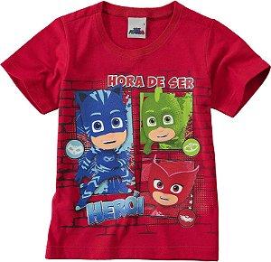 Camiseta PJ Masks - Vermelha - Malwee