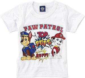 Camiseta Chase e Marshall - Patrulha Canina - Branca - Malwee