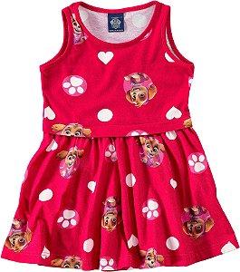 Vestido Infantil Skye - Patrulha Canina - Rosa - Malwee
