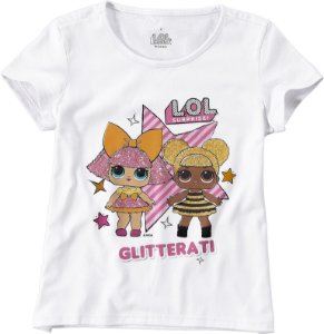 Blusa LOL Surprise - Queen Bee e Glitter Queen - Branca