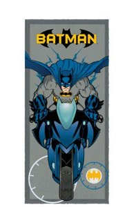 Toalha Felpuda do Batman - Motocicleta