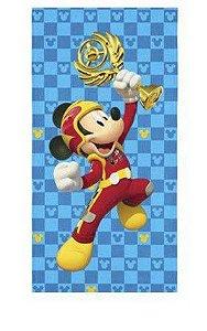 Toalha Aveludada Transfer Mickey - Aventura Sobre Rodas