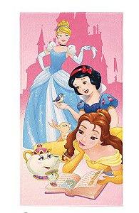 Toalha Aveludada Transfer das Princesas da Disney
