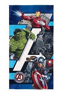 Toalha Aveludada Transfer Avengers