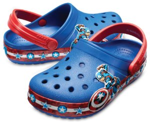 Crocs do Capitão América - Azul Jeans - Estilo Crocband  Fashion