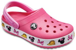 Crocs da Minnie - Rosa - Estilo Crocband  Fashion