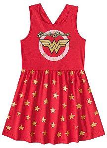 Vestido da Mulher Maravilha - Liga da Justiça- Vermelho