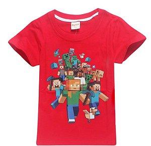 Camiseta Minecraft - Vermelha