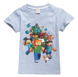 Camiseta Minecraft - Cinza