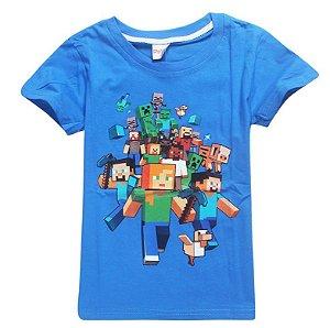 Camiseta Minecraft - Azul