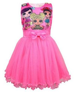 Vestido de Festa LOL - Rosa
