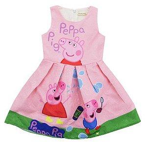 Vestido de Festa Peppa Pig - Rosa Claro