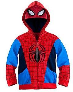 Casaco do Homem Aranha - Coleção Super Heróis - Vermelho e Azul