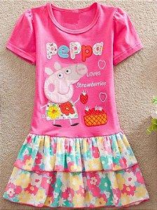 Vestido da Peppa Pig - Floral