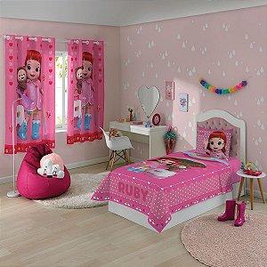 Jogo de Cama - Rainbow Ruby - 2 Peças - Rosa - Lepper